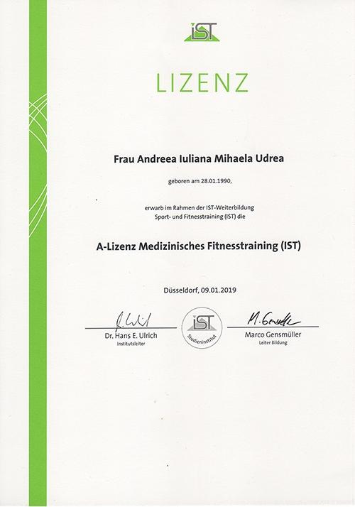 MihaPower A-Lizenz Medizinisches Fitness Trainer IST Munich