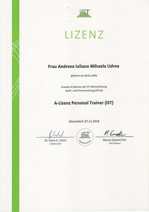 MihaPower A-Lizenz personal trainer IST Munich