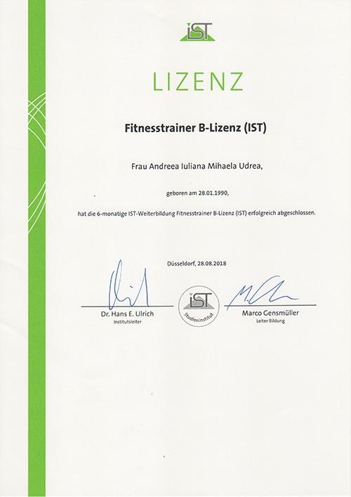 MihaPower B-Lizenz Fitness Trainer IST Munich