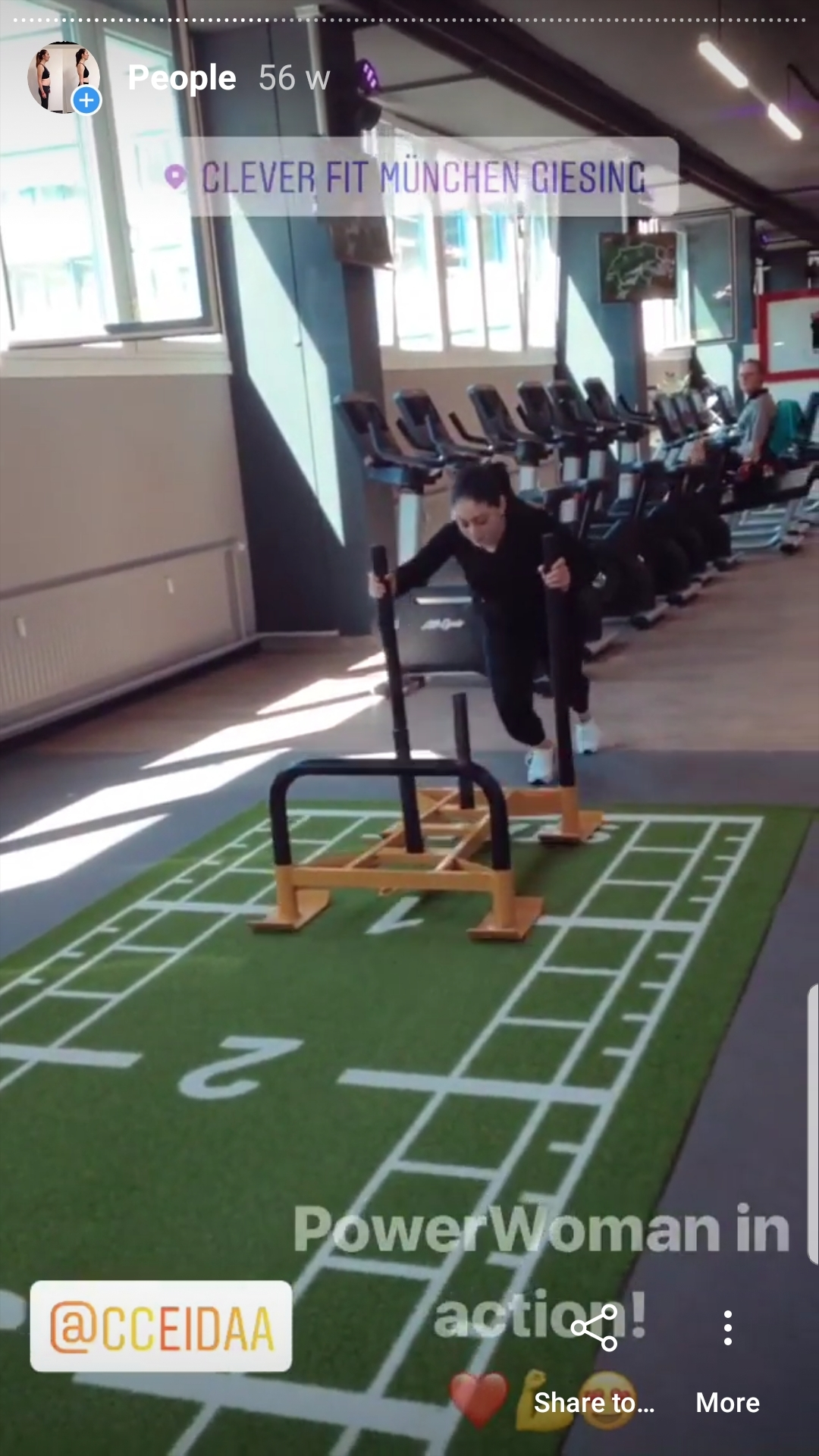 MihaPower personal training session with prowler
